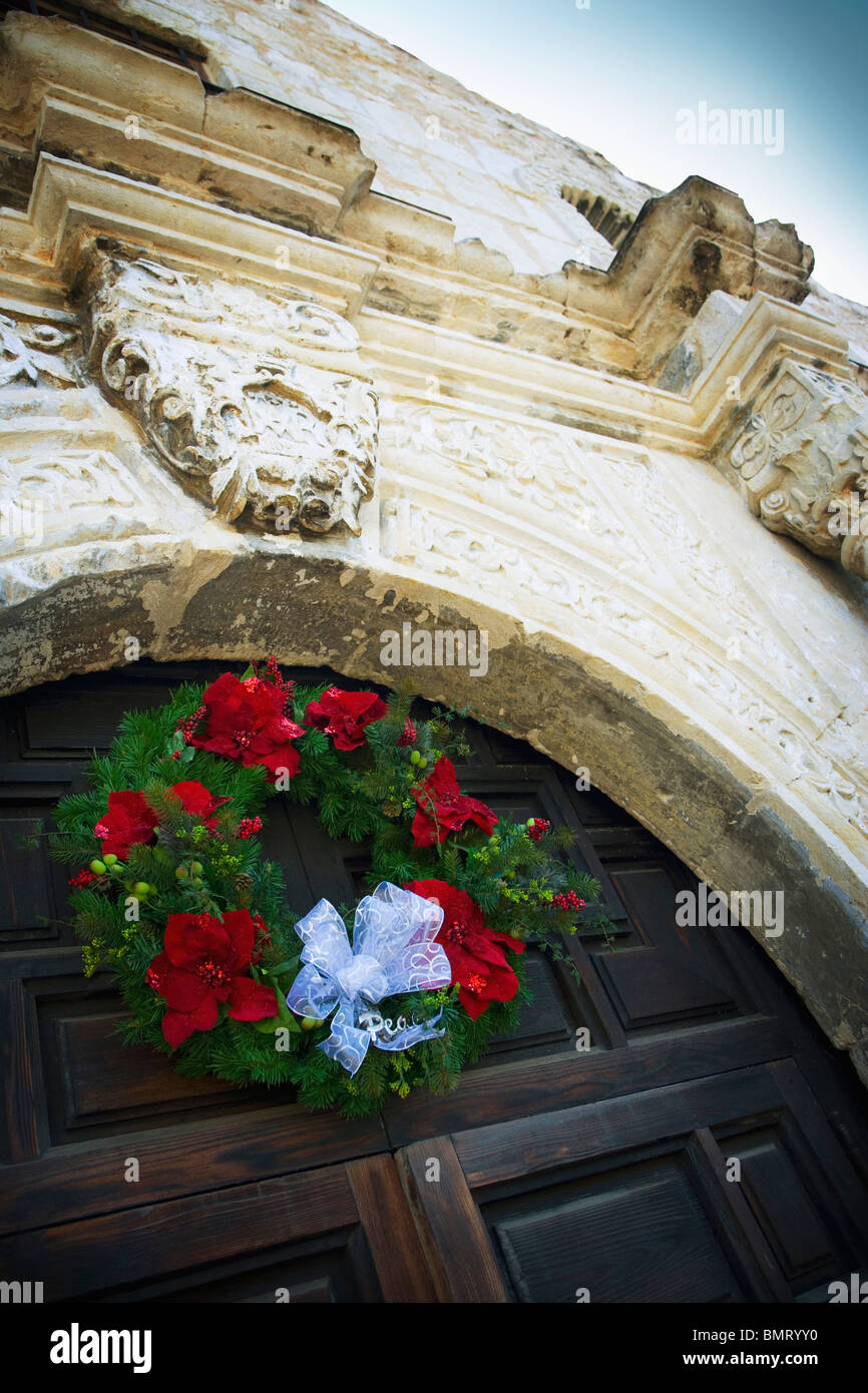 San Antonio, Texas, United States Of America; Christmas Wreath On ...