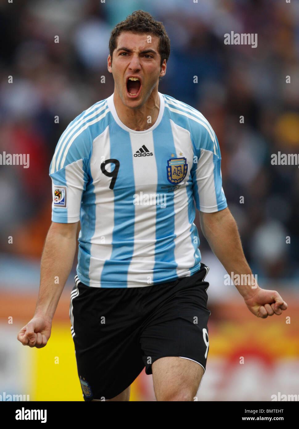 Gonzalo Higuain of Argentina celebrates after scoring a goal