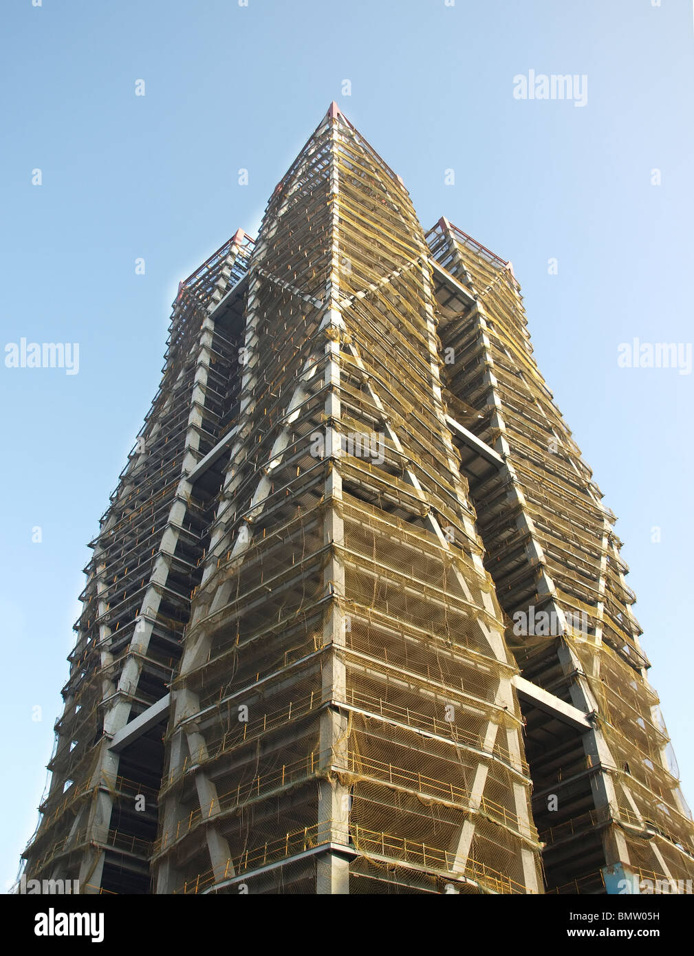 Modern steel structure of a high rise building stock photo for Modern high rise building design