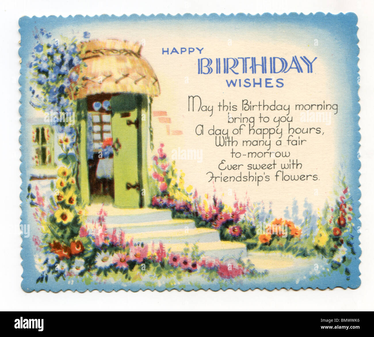 Birthday card country cottage and garden stock photo 30072426 birthday card country cottage and garden bookmarktalkfo Choice Image