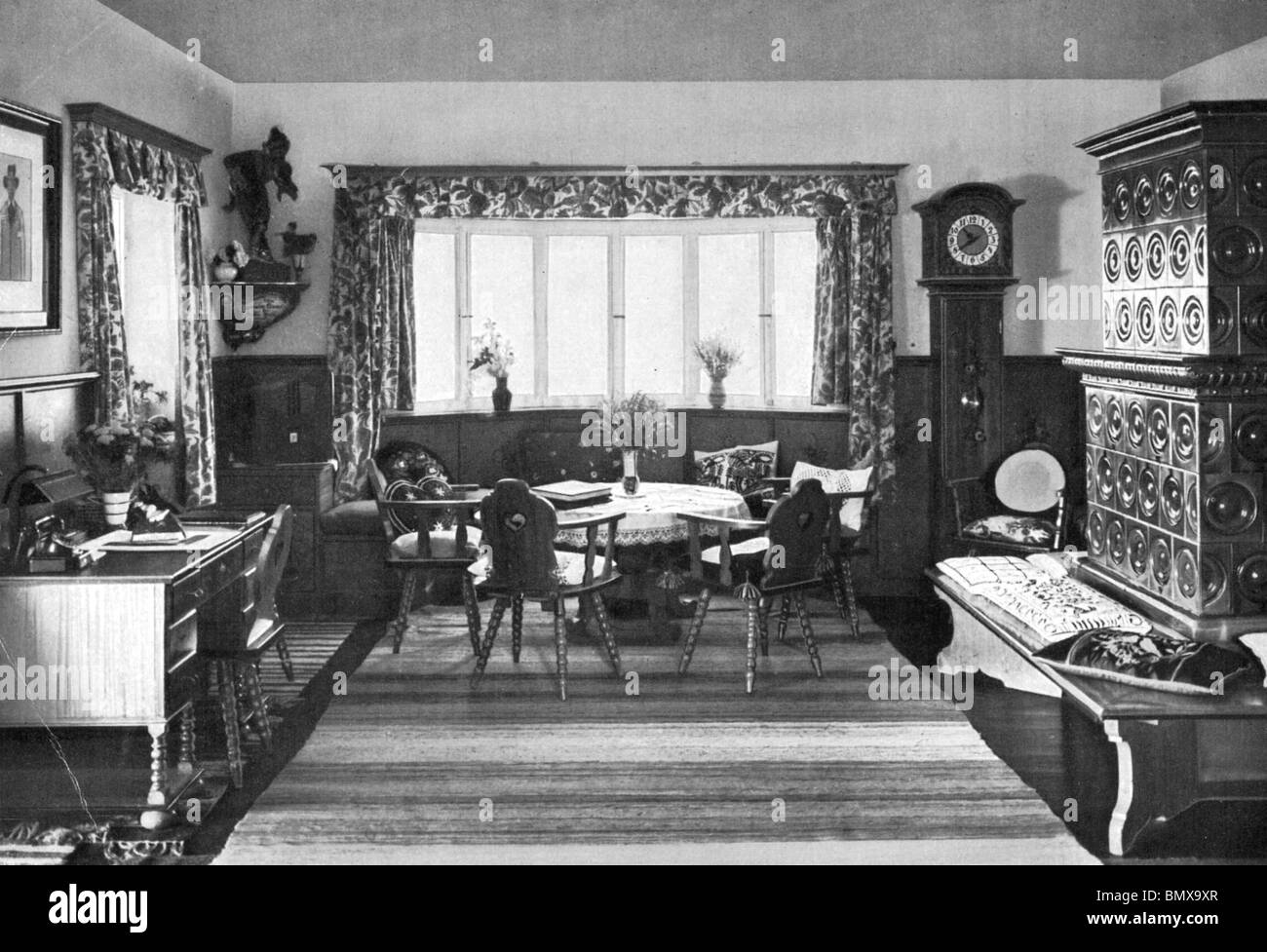 Adolf Hitler Interiors Of His Berghof House At