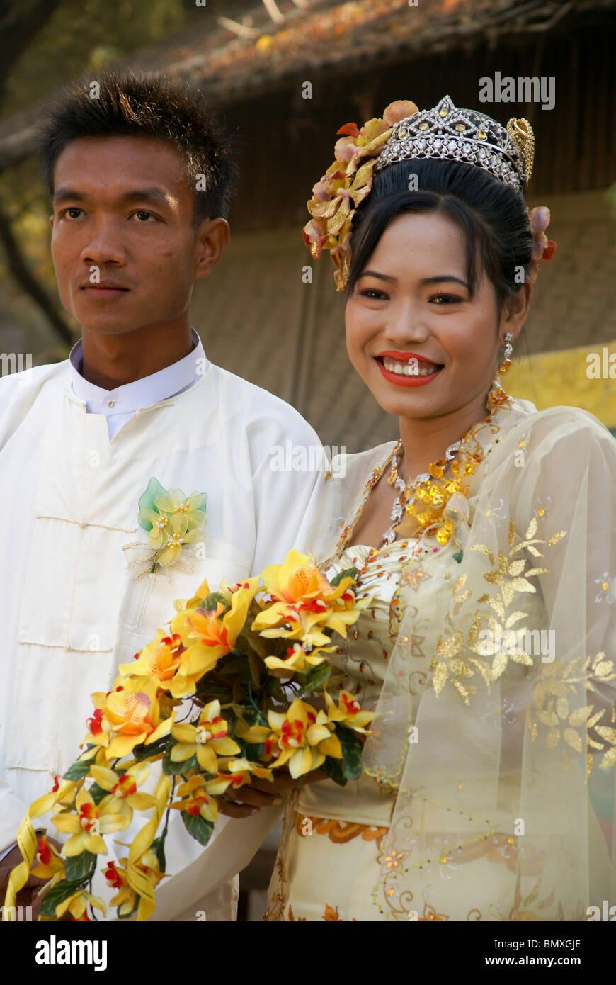 Myanmar Burmese Wedding Stock Photo Royalty Free Image 30087302