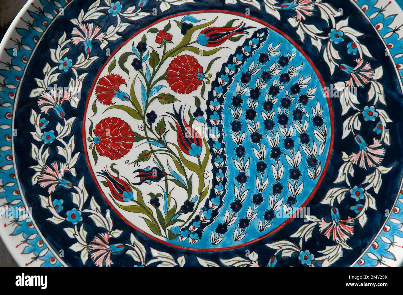 Handpainted ceramic plate at an armenian tile workshop east handpainted ceramic plate at an armenian tile workshop east jerusalem israel dailygadgetfo Images