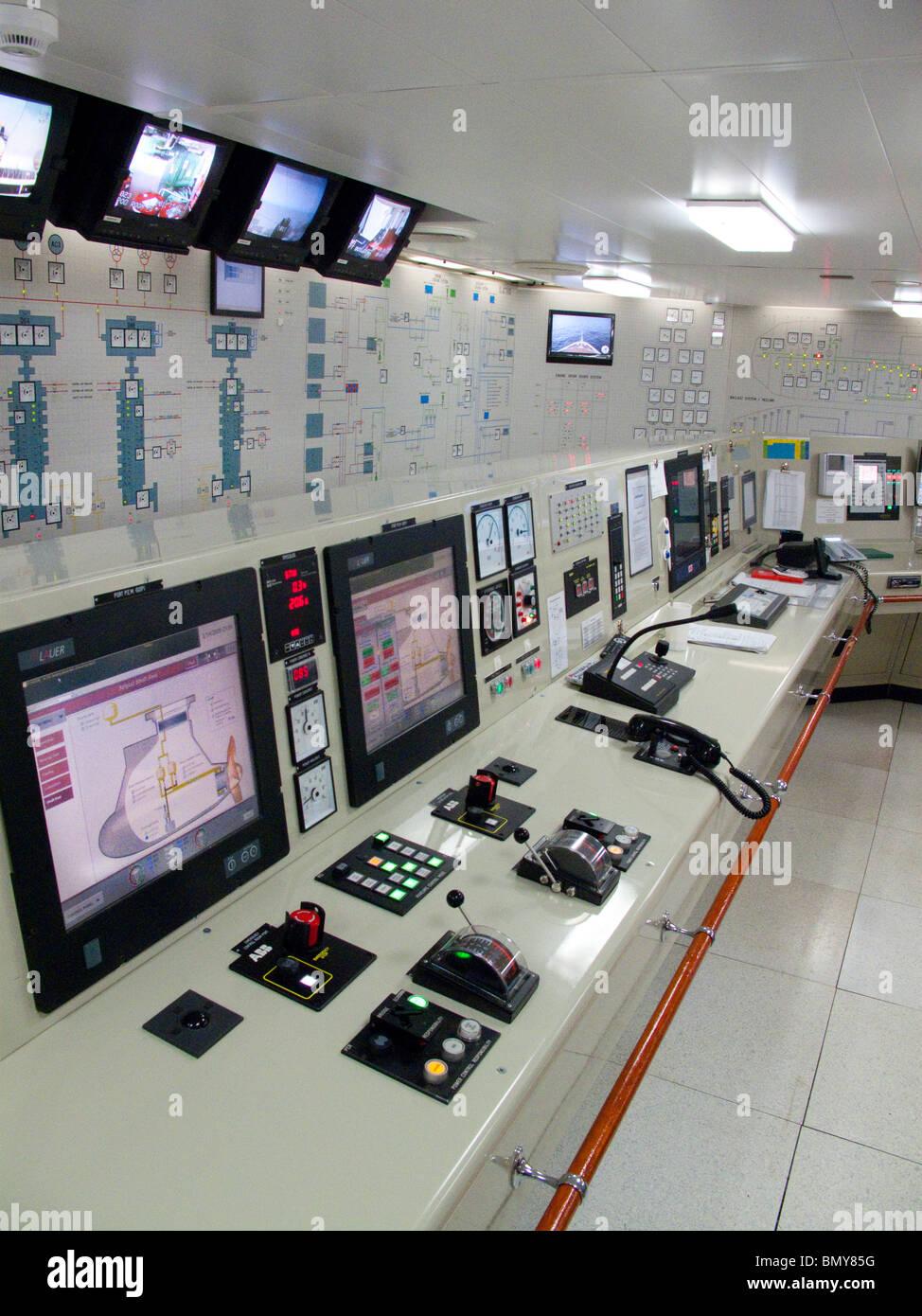 Eurodam Cruise Ship Engine Control Room Stock Photo
