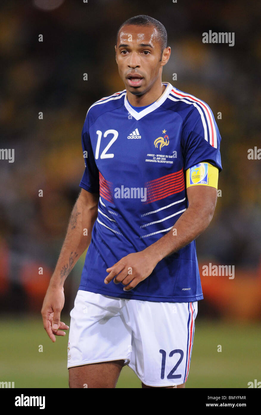 THIERRY HENRY FRANCE FREE STATE STADIUM SOUTH AFRICA 22 June 2010