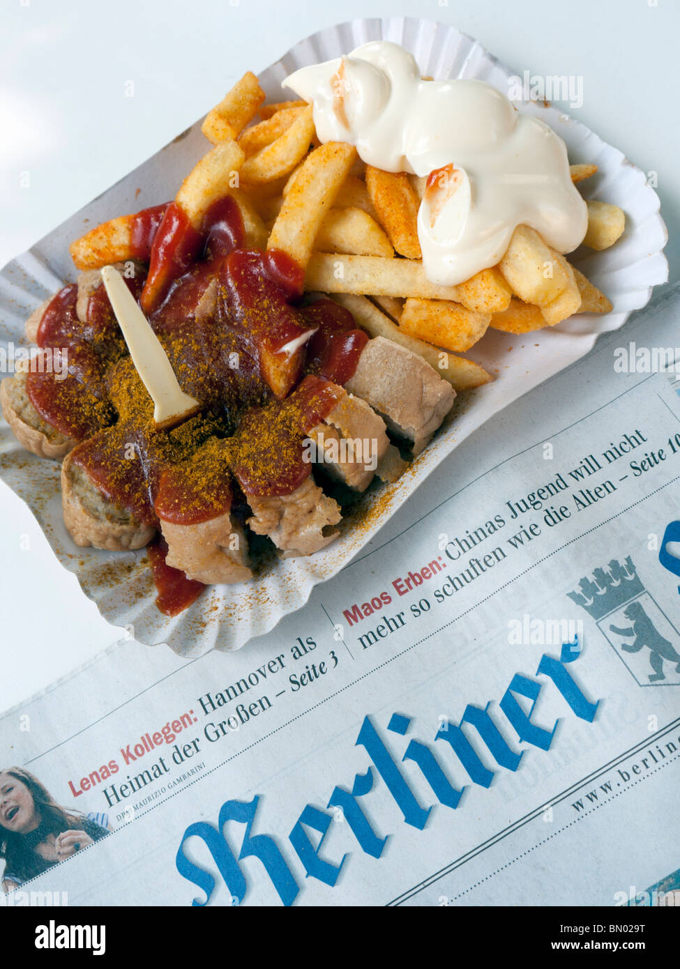 detail of traditional berlin currywurst snack at famous konnopke s stock photo 30119988 alamy. Black Bedroom Furniture Sets. Home Design Ideas