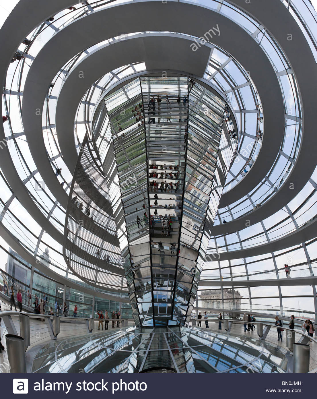 interior of the dome on top of the reichstag in berlin. Black Bedroom Furniture Sets. Home Design Ideas
