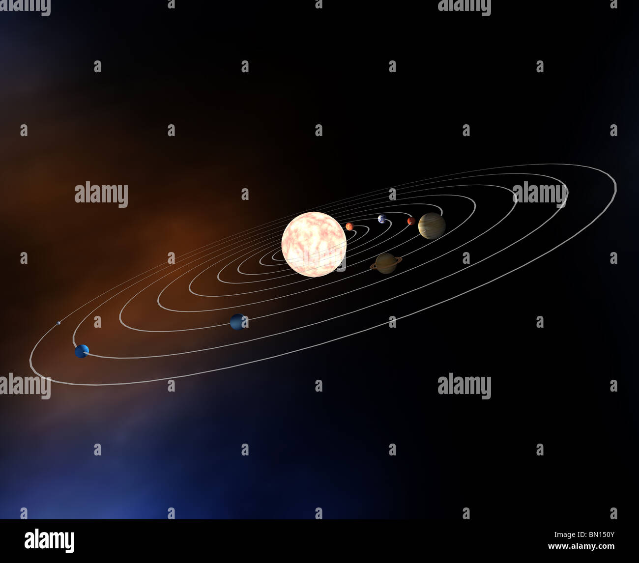 Top view of the planets in the solar system illustration model top view of the planets in the solar system illustration model rendered sciox Choice Image