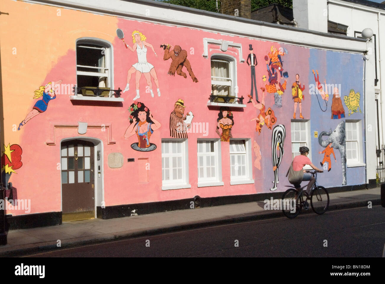chelsea arts club london redecoration their building in old church chelsea arts club london redecoration their building in old church street art work murals by tony common temporary wall mural
