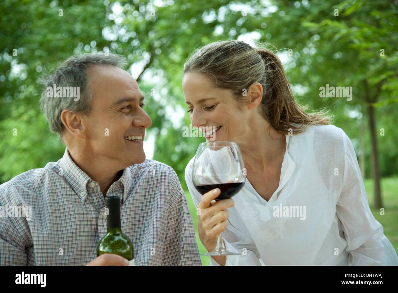 Mature couple enjoying