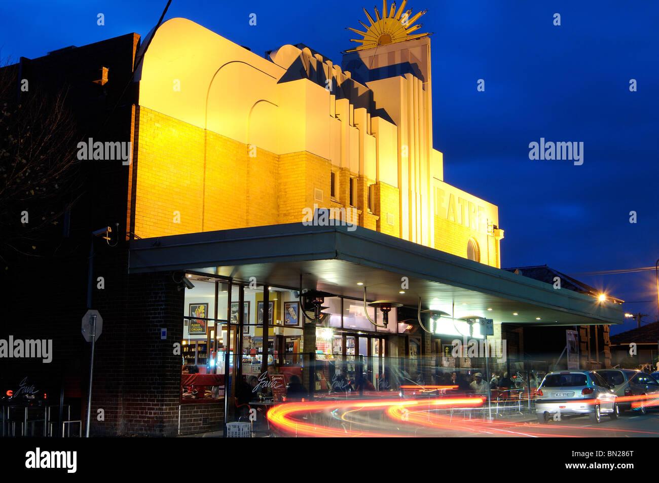 art deco-style sun cinema, ballarat street, yarraville, melbourne