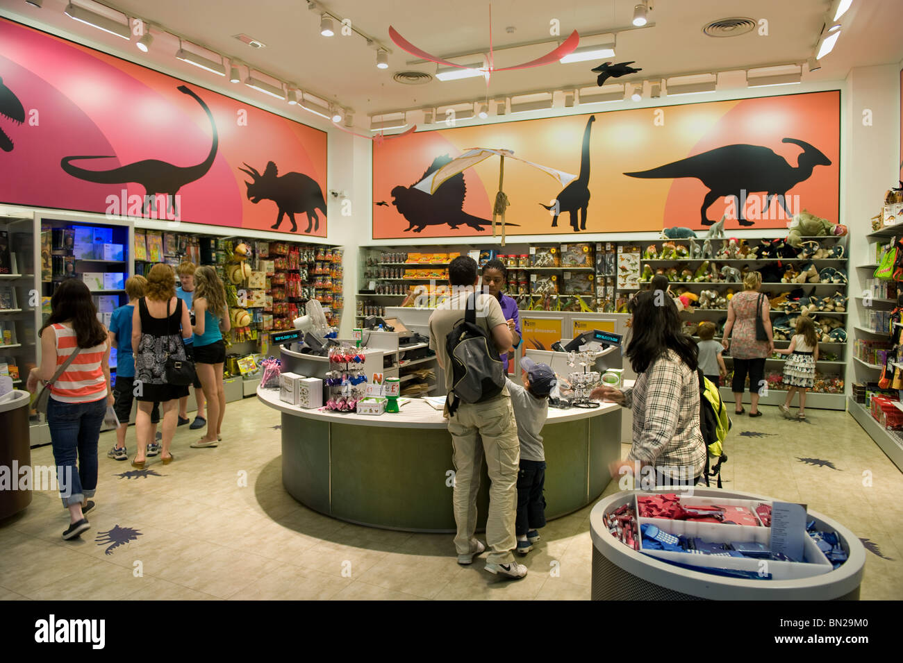 Shop with visitors in the Natural History Museum, London 2010 ...