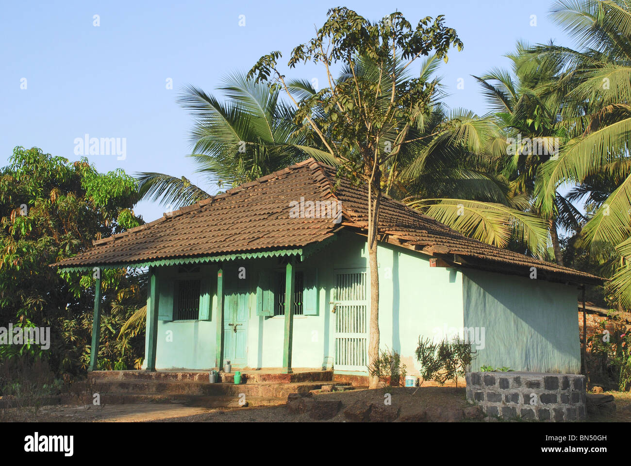 A typical house in konkan area maharastra stock photo for Konkan home designs