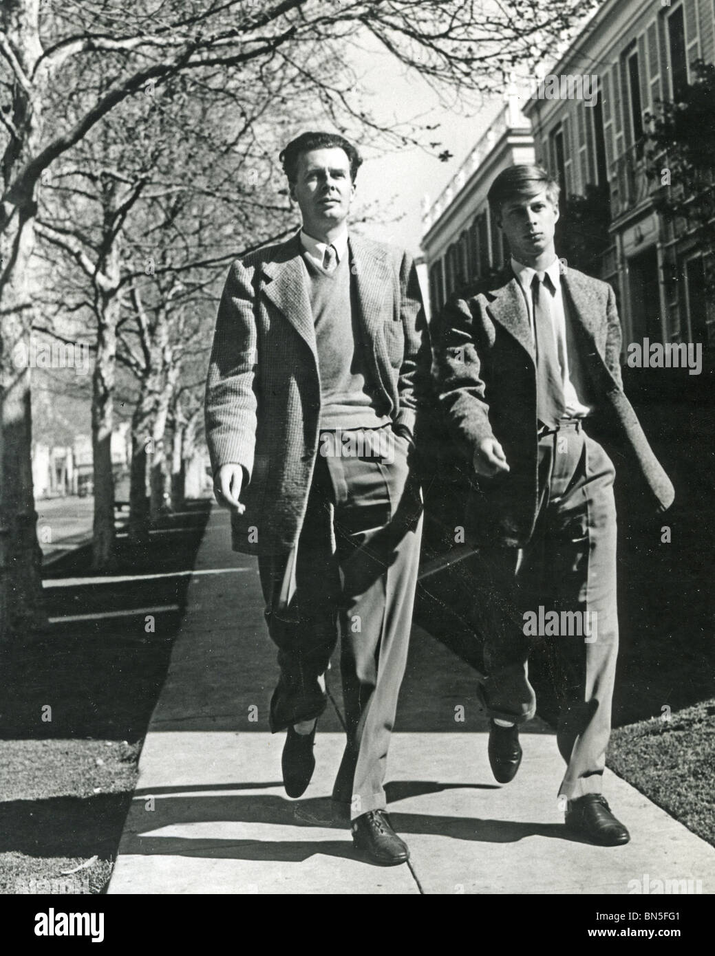 Aldous Huxley 1894 1963 English Writer With His Only Son