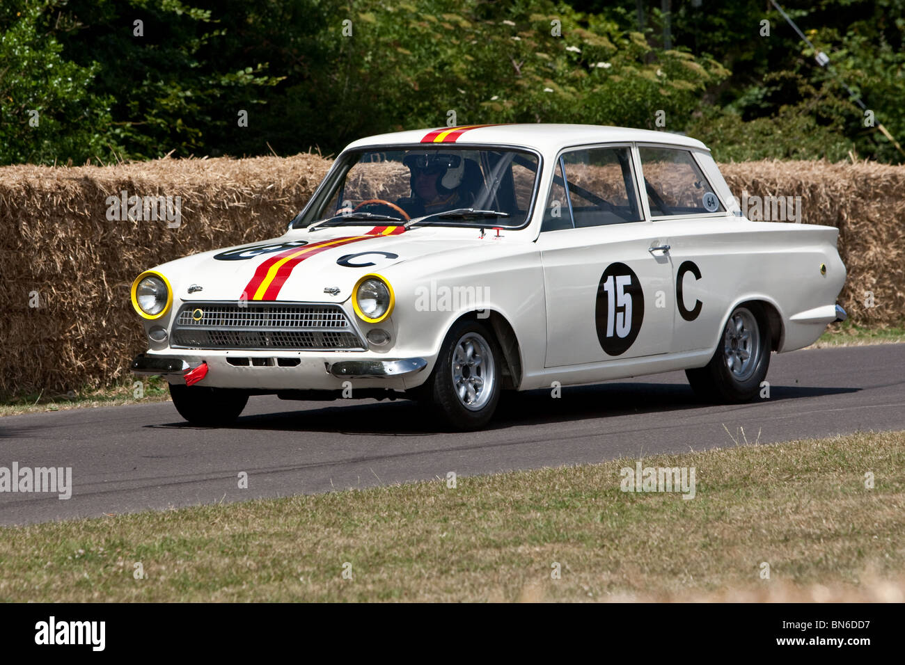 1964 ford lotus cortina mk1 bathurst at the festival of speed stock photo royalty free image. Black Bedroom Furniture Sets. Home Design Ideas