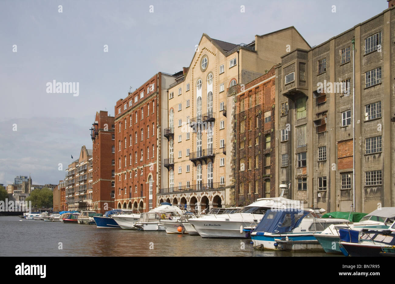 Converted Warehouses Along Bristol Floating Harbour Stock