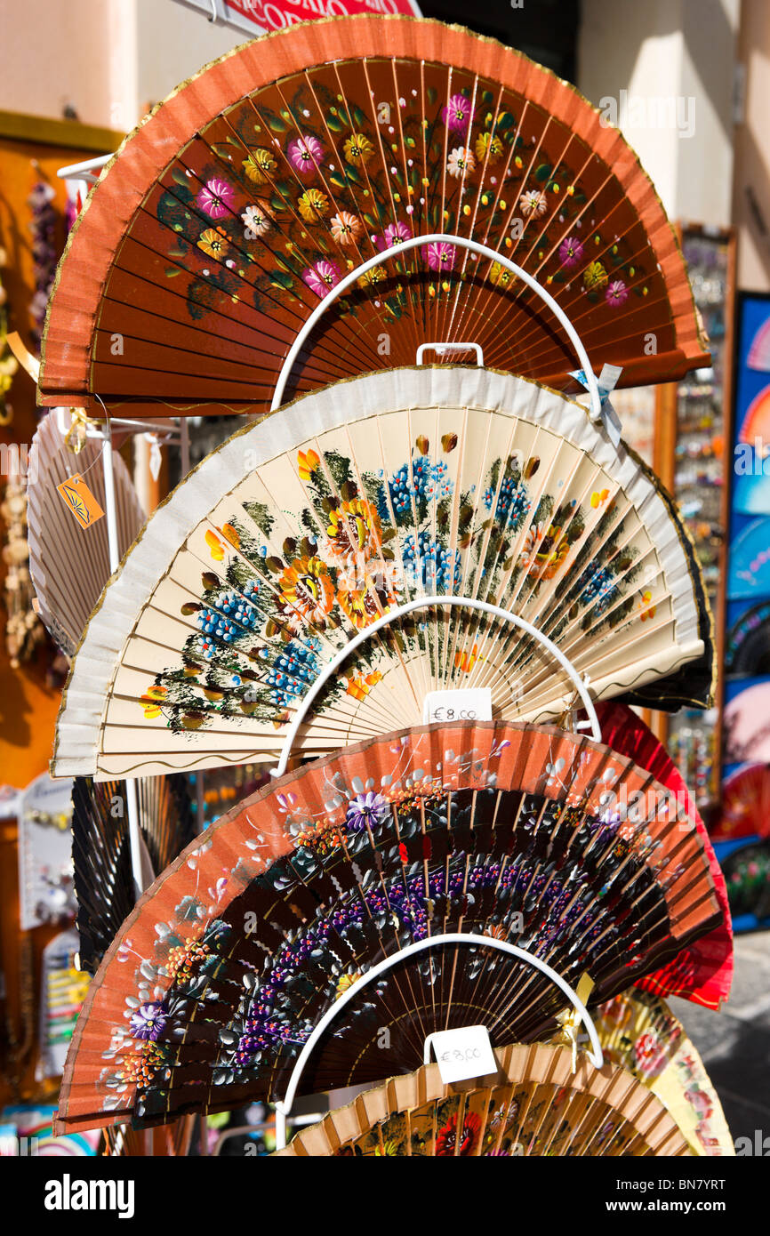 held folding fans in a shop on the corso vittorio emanuele