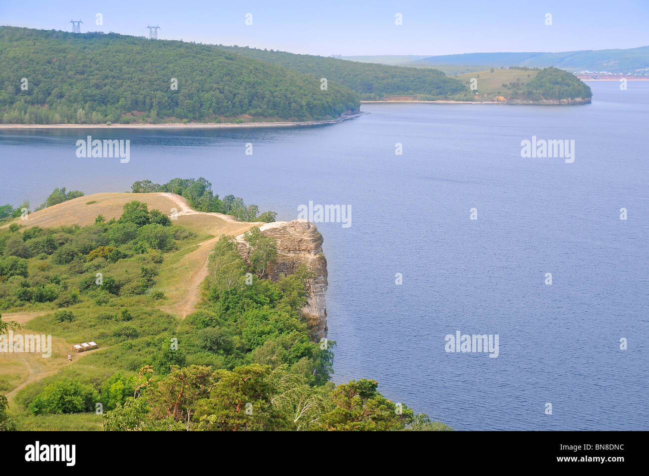 Beautiful Scenery Of Volga River In Russian National Park Samara - The volga river