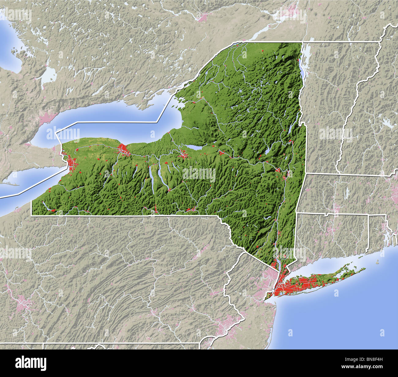 New York Map Stock Photos  New York Map Stock Images Alamy - New york map in 3d