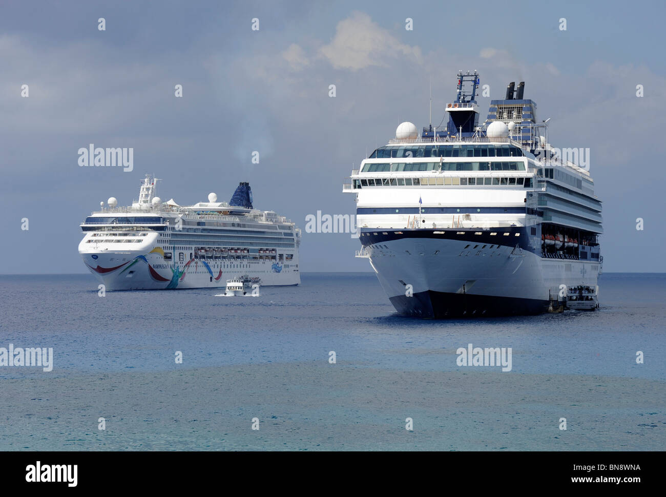 Cruise Ships Tendered In Harbor Grand Cayman Islands Caribbean - Cruise ship schedule for grand cayman