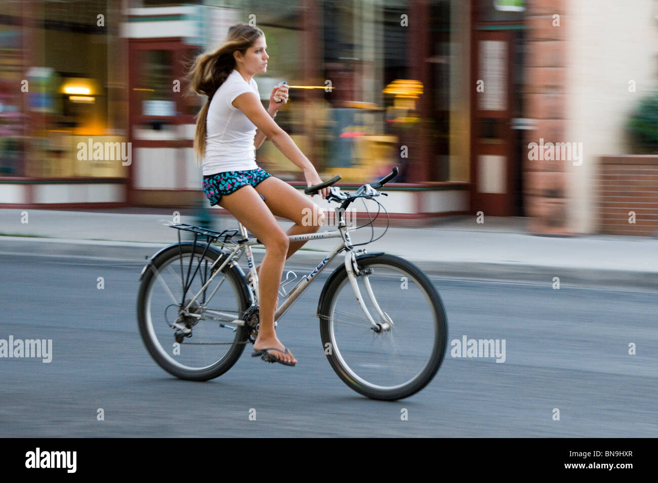 riding bike Girl