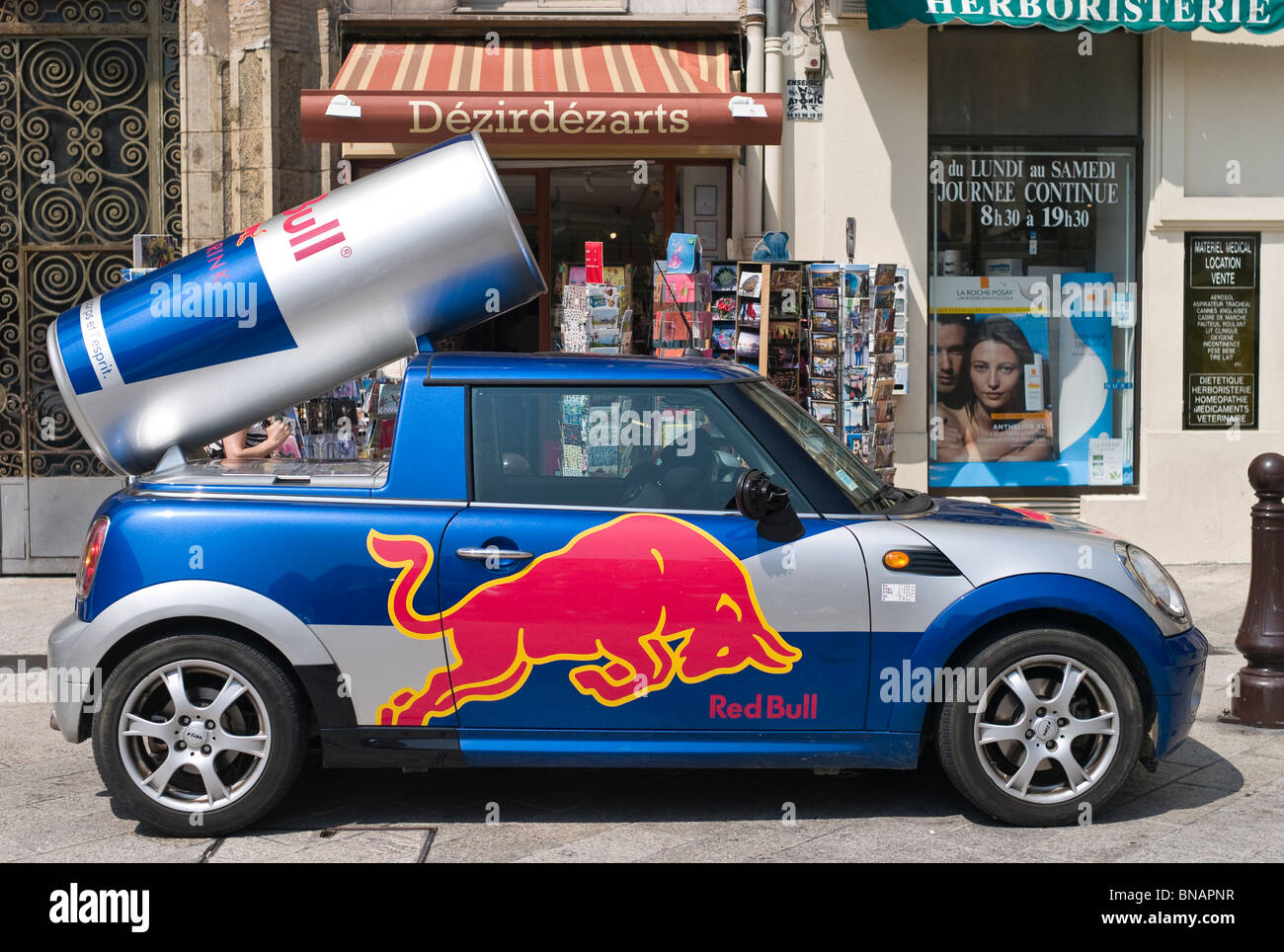 red bull promotions car nice france stock photo royalty free image 30355523 alamy. Black Bedroom Furniture Sets. Home Design Ideas