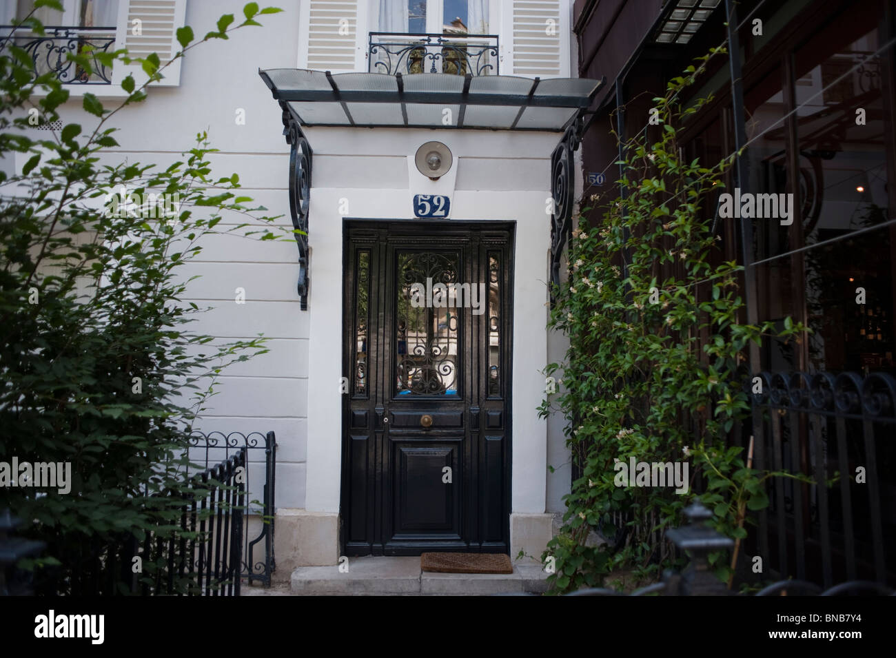 Facade Apartment Building, Paris, France, Front Door, Entrance ...
