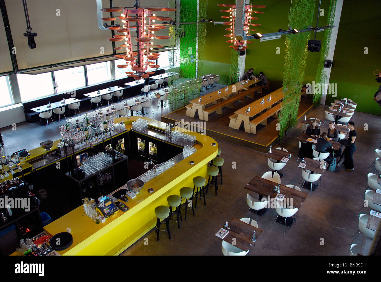 amsterdam netherlands restaurant modern architecture interior bar