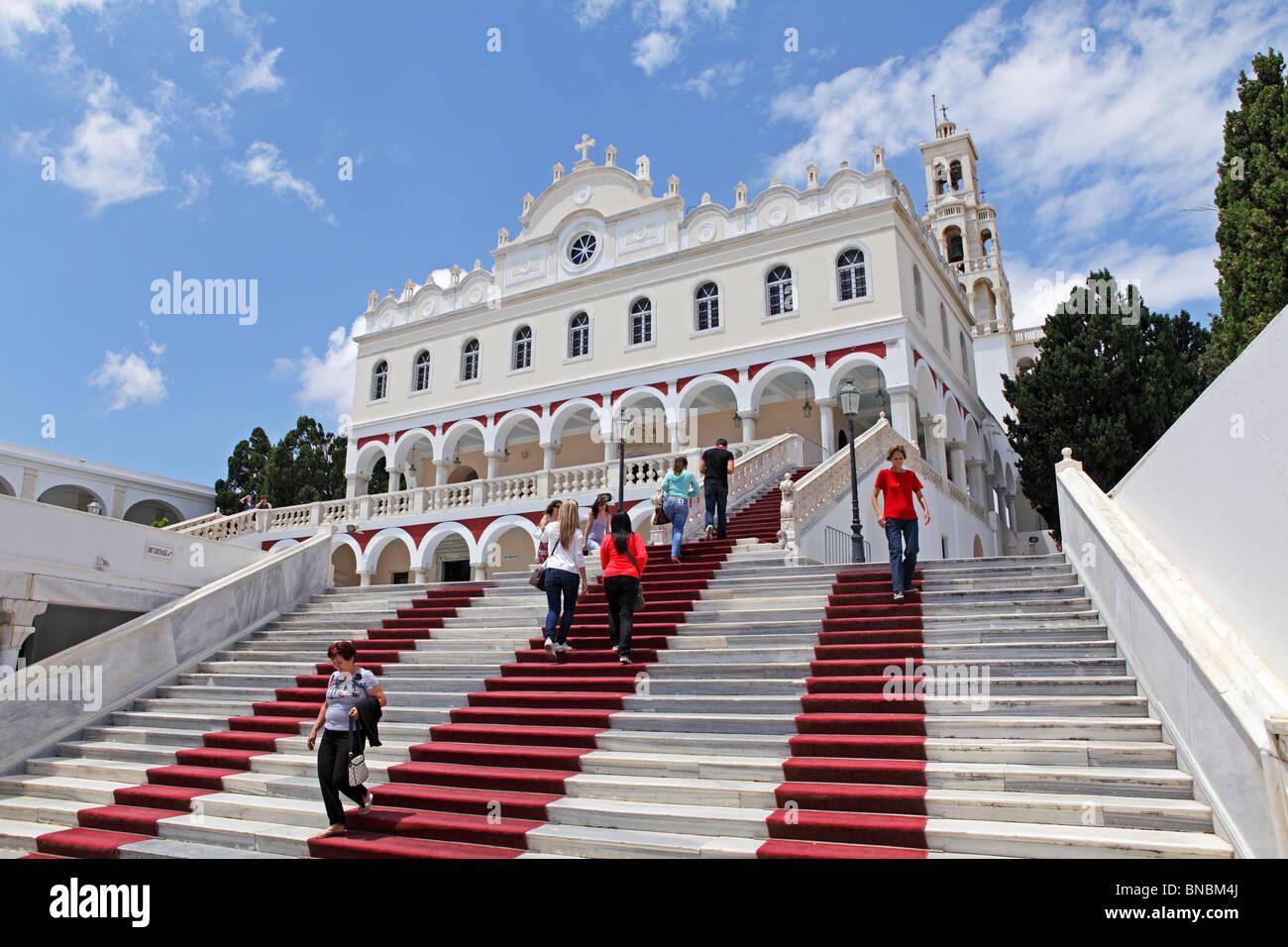 the church Panagia Evangelistria, Tinos Town, island of ...