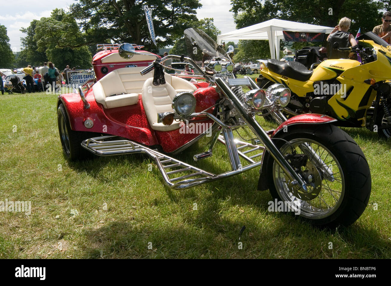 Stock photo vw trike trikes volkswagen beetle three wheeler kit car bike motorbike chrome classic car cars show shows showing competition ol