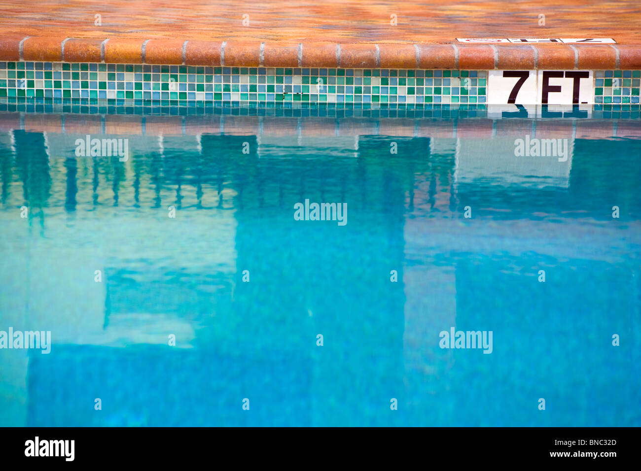 7 Seven Feet In A Swimming Pool Depth Stock Photo Royalty Free Image 30383989 Alamy