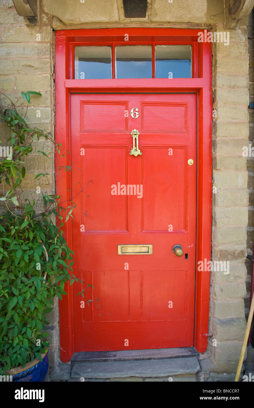 No 6 red front door of house in Hay-on-Wye Powys Wales UK & No 6 red front door of house in Hay-on-Wye Powys Wales UK Stock ... pezcame.com