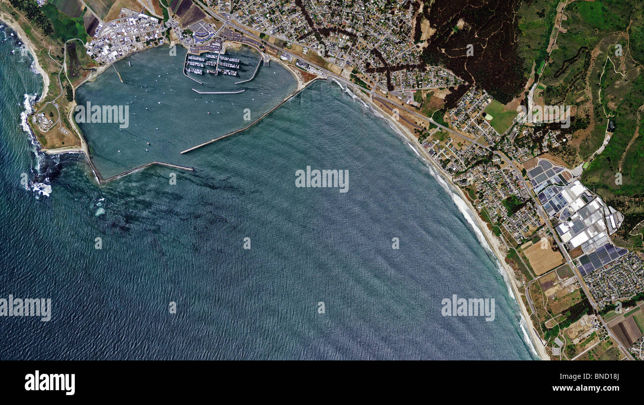 aerial map view above Pillar Point Harbor Half Moon Bay San Mateo