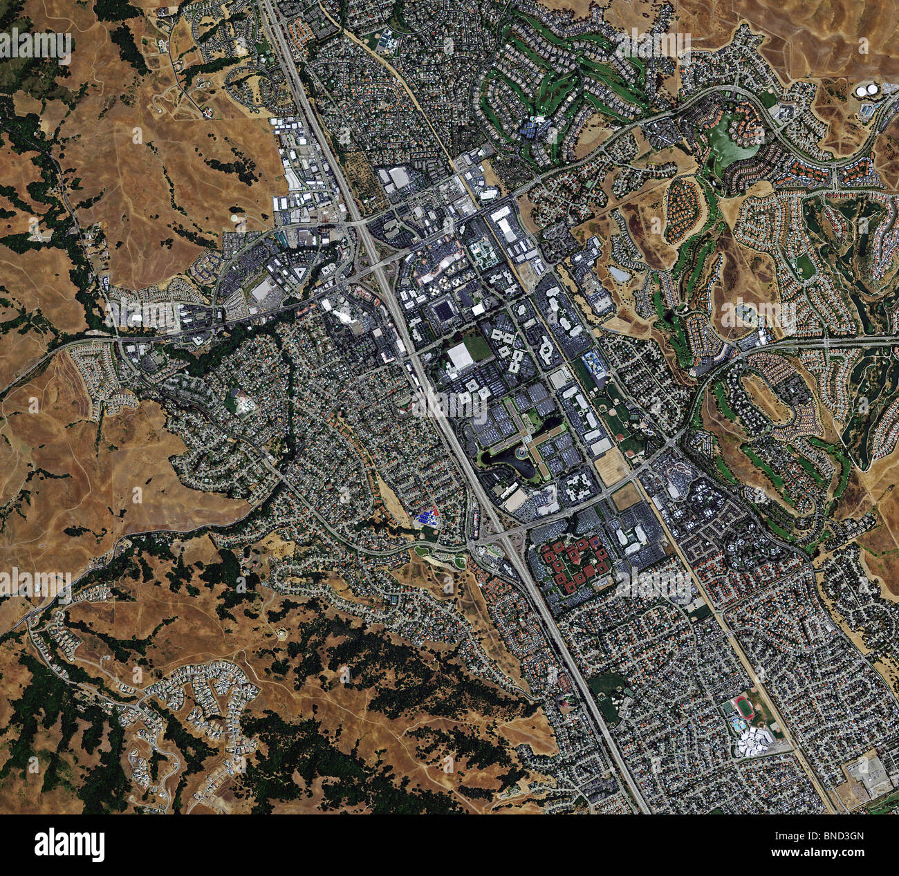 Aerial Map View Above Bishop Ranch San Ramon Contra Costa County - Map of contra costa county ca