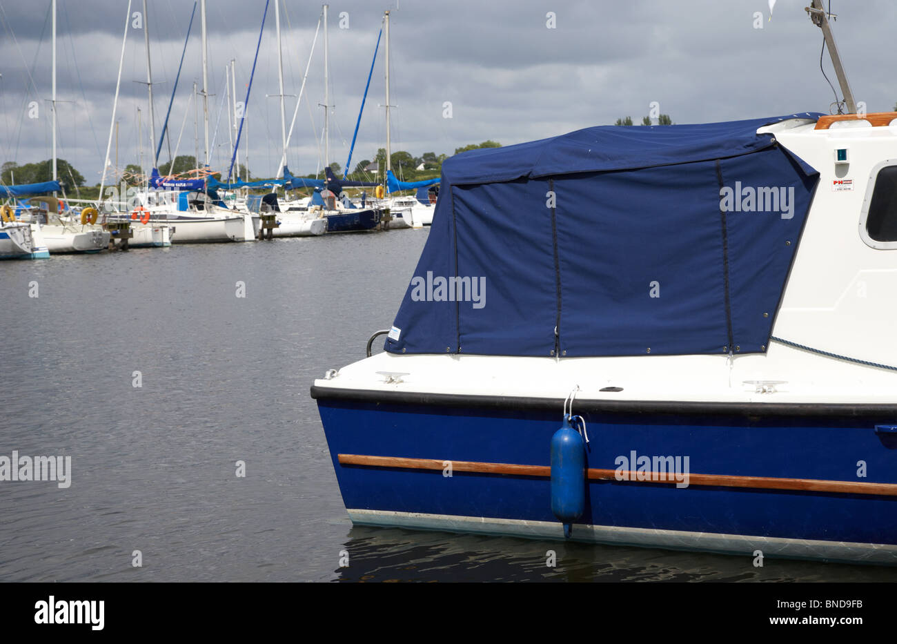 boat canopy on boat berthed in marina county armagh northern ireland uk & boat canopy on boat berthed in marina county armagh northern ...