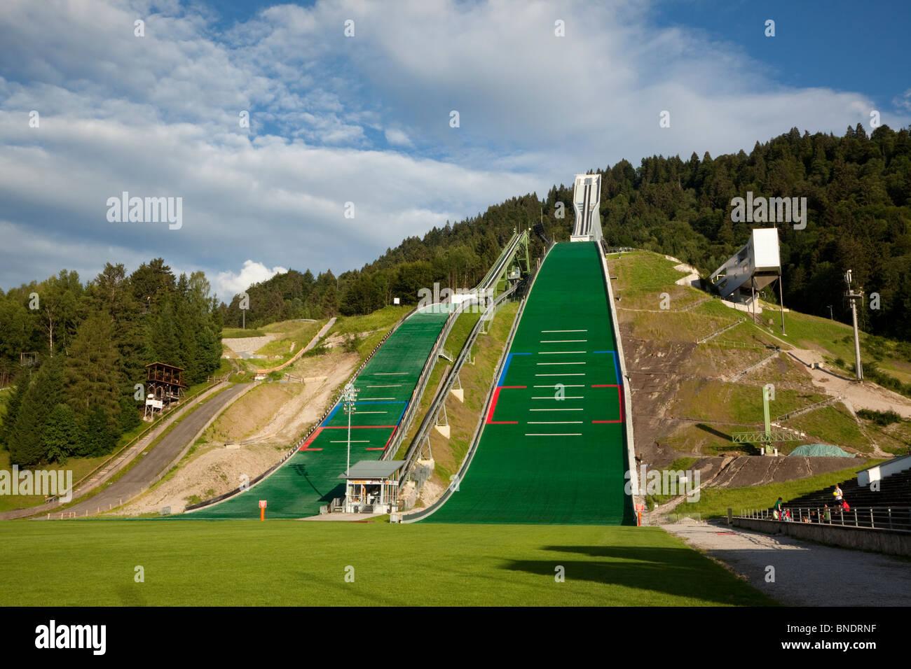 Site of 1936 winter Olympics, ski jumps in Garmisch ...