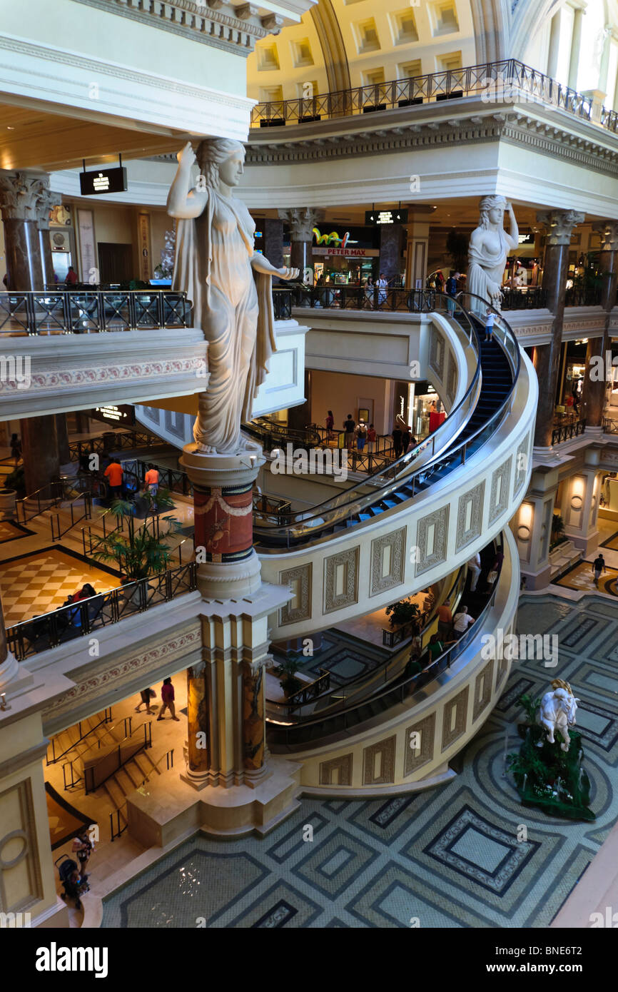 Caesar 39 s palace las vegas shopping mall entrance with for Yard statues las vegas