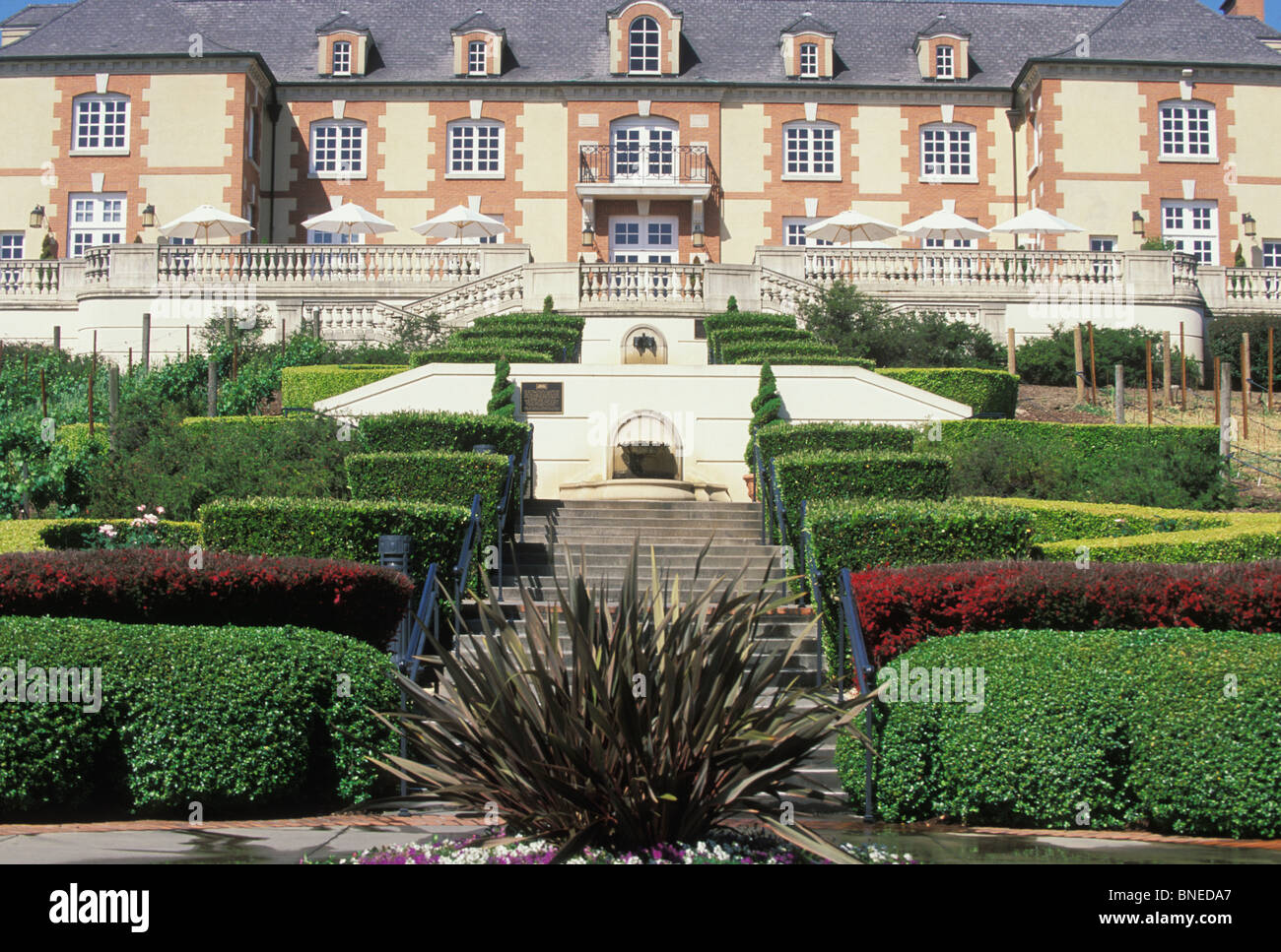 French chateau style architecture of domaine chandon Domaine architecture