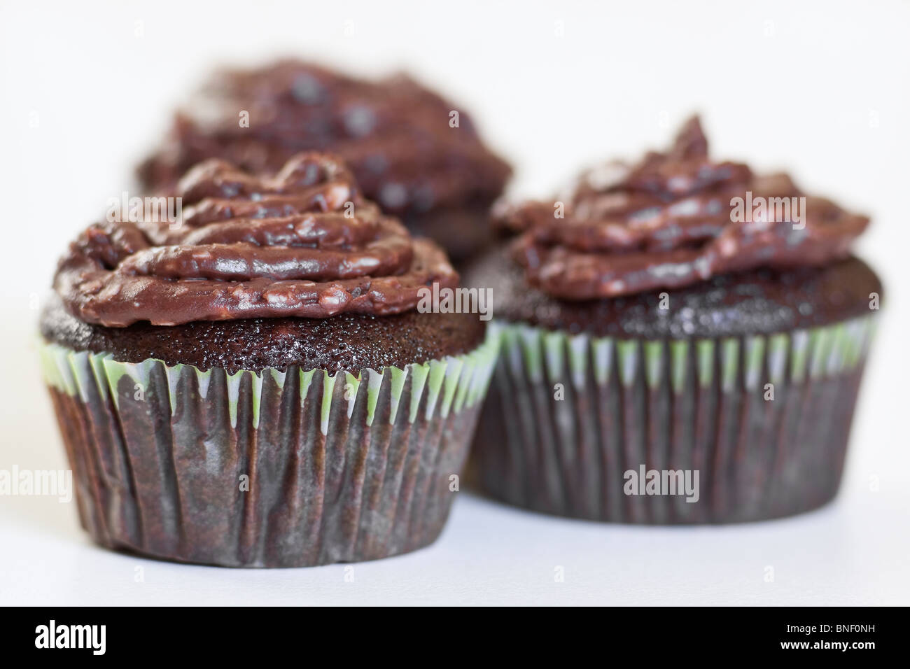 Homemade chocolate cupcakes on a white background Stock Photo ...