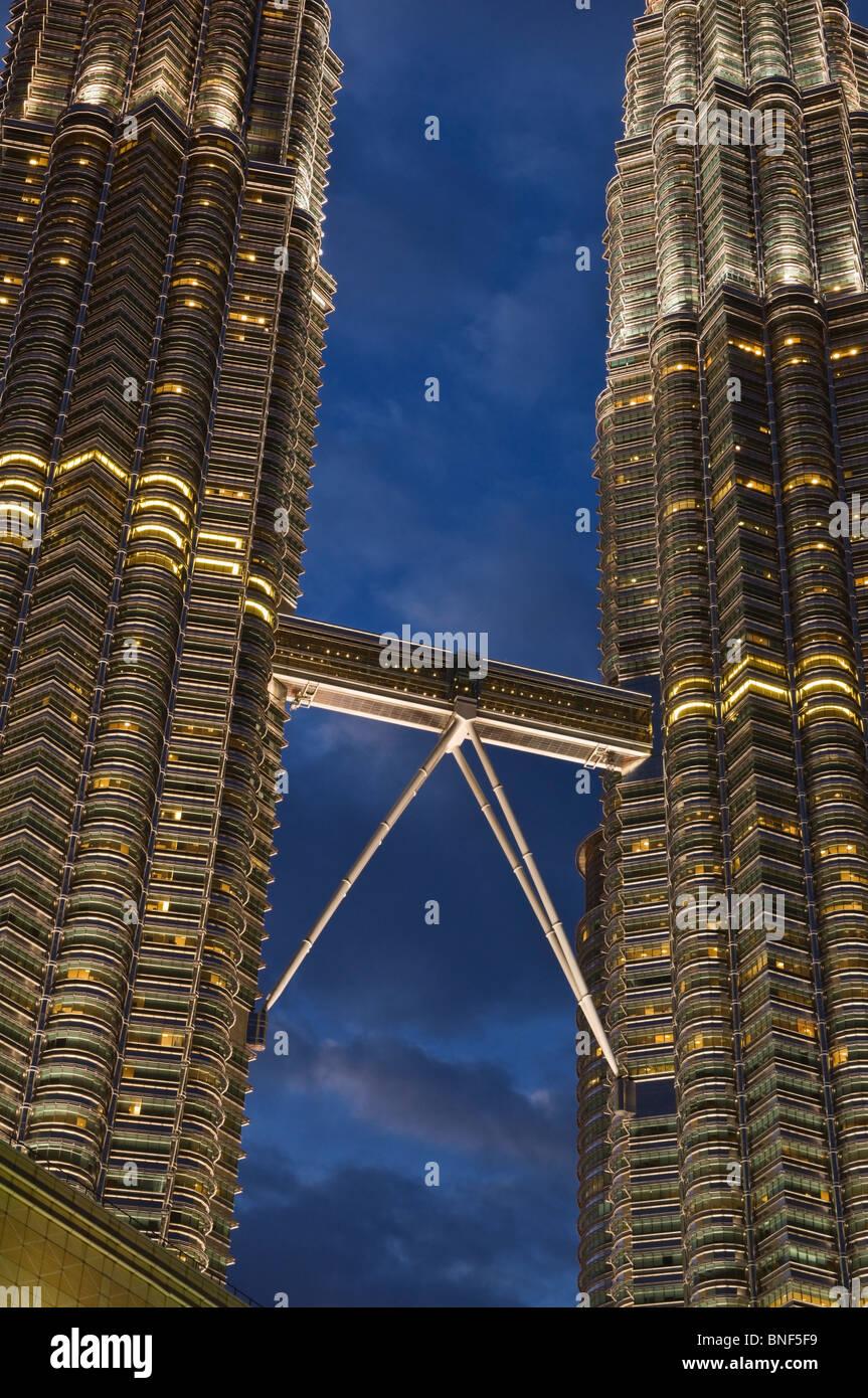 Petronas towers skybridge kuala lumpur malaysia stock photo petronas towers skybridge kuala lumpur malaysia buycottarizona Gallery