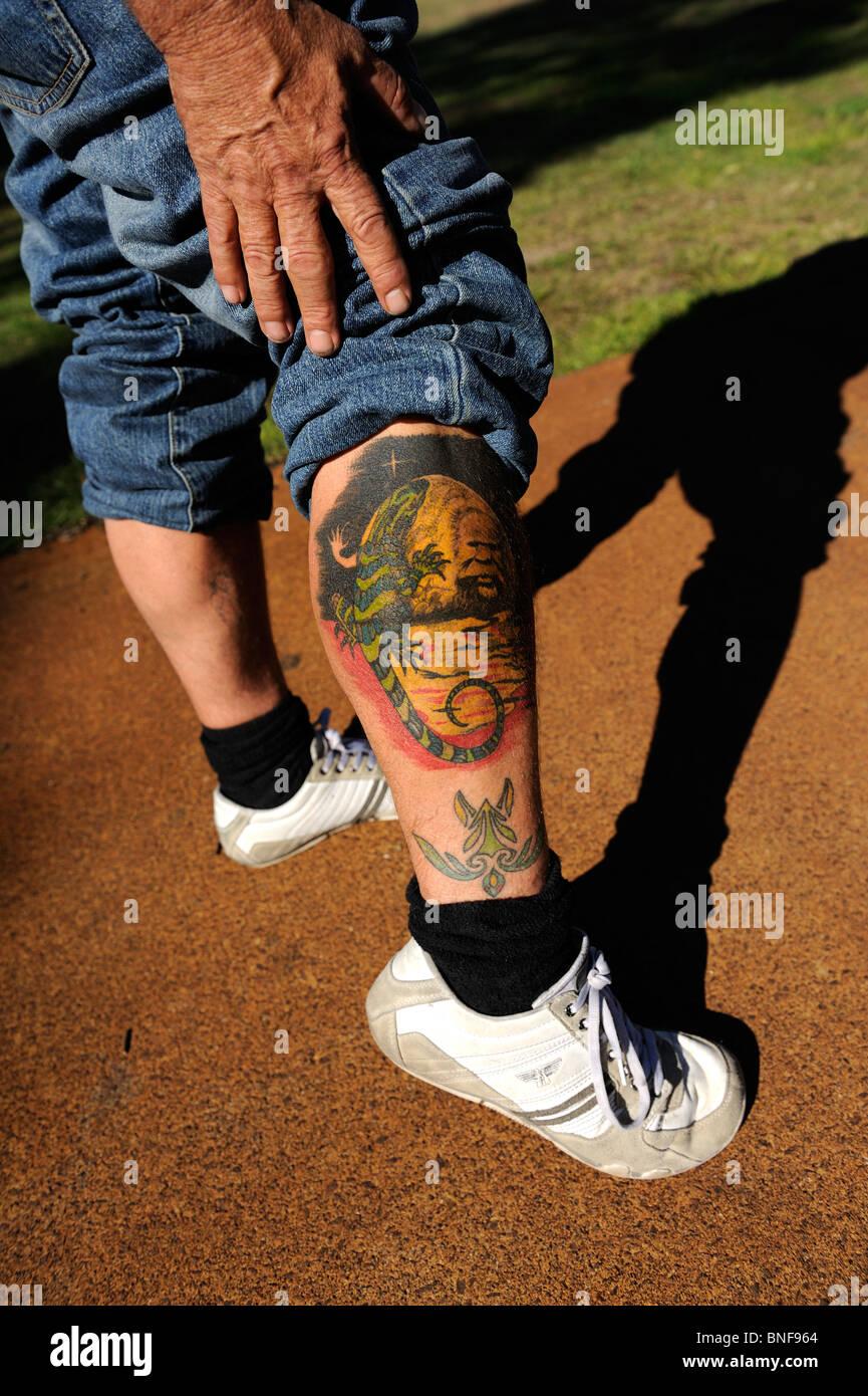 tattoo with australian aboriginal flag aboriginal animal