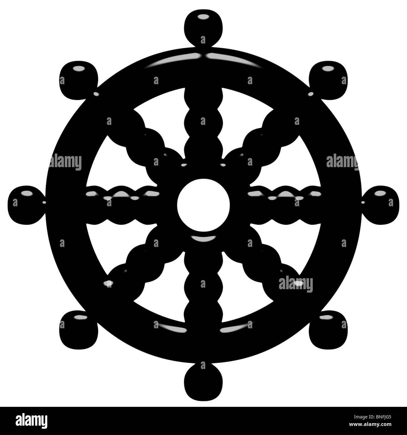 Wheel of doctrine stock photos wheel of doctrine stock images 3d buddhism symbol wheel of dharma stock image biocorpaavc
