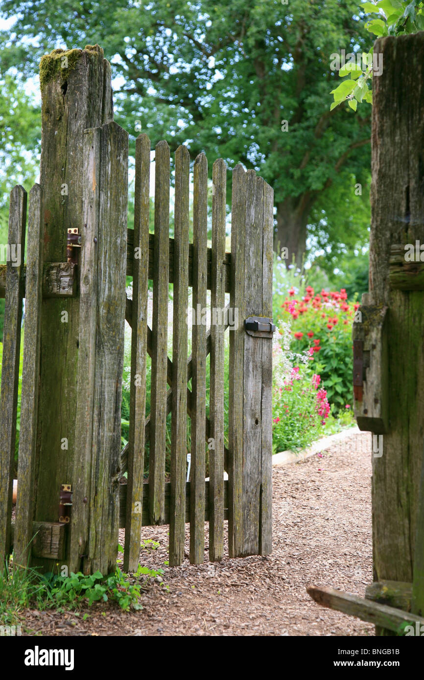 Old Wooden Garden Gate   Stock Image
