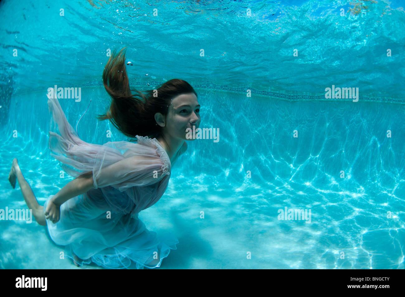 Are underwater vintage woman