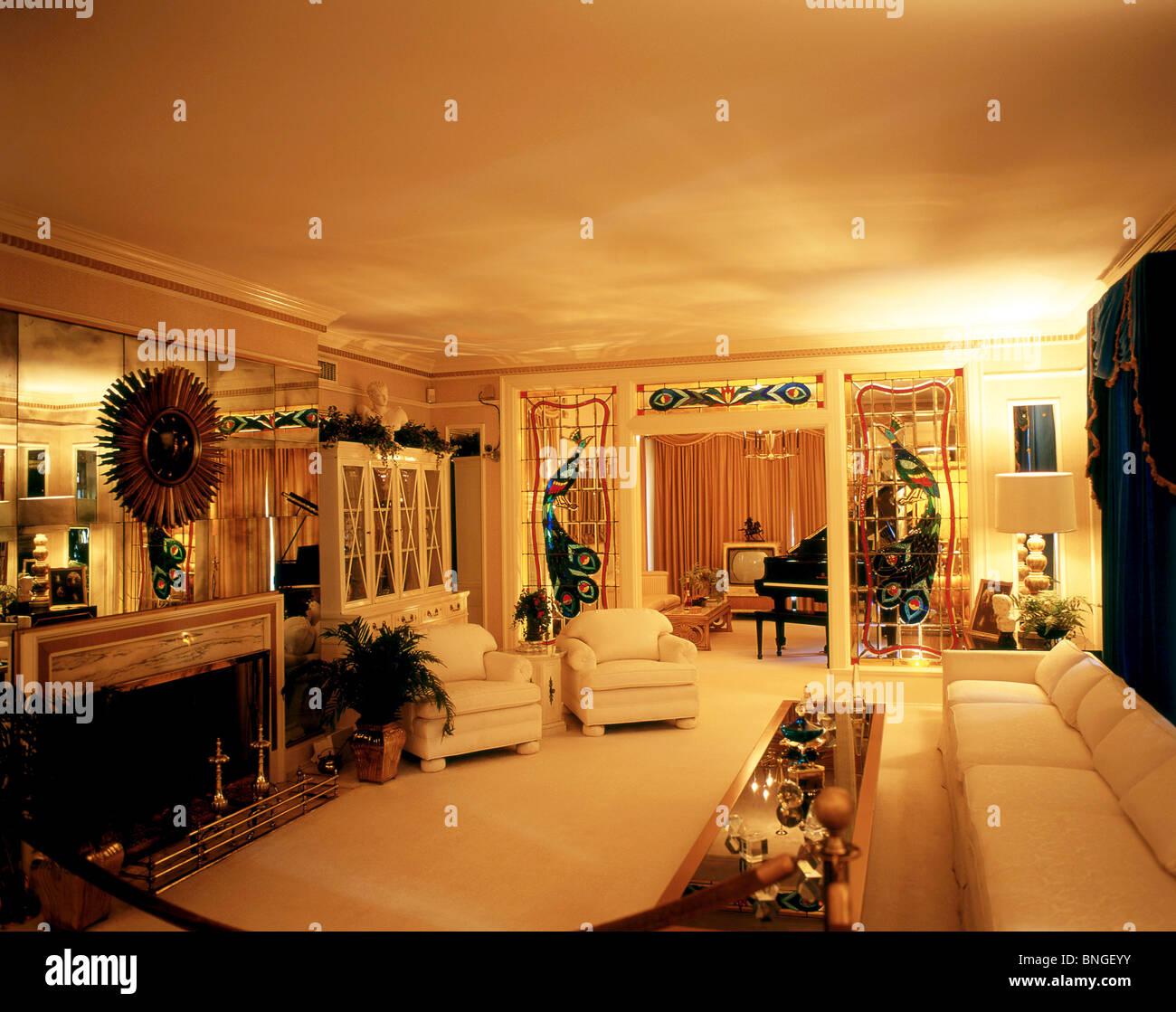 The Living Room Graceland Mansion Elvis Presley Boulevard Whitehaven Memphis Tennessee United States Of America
