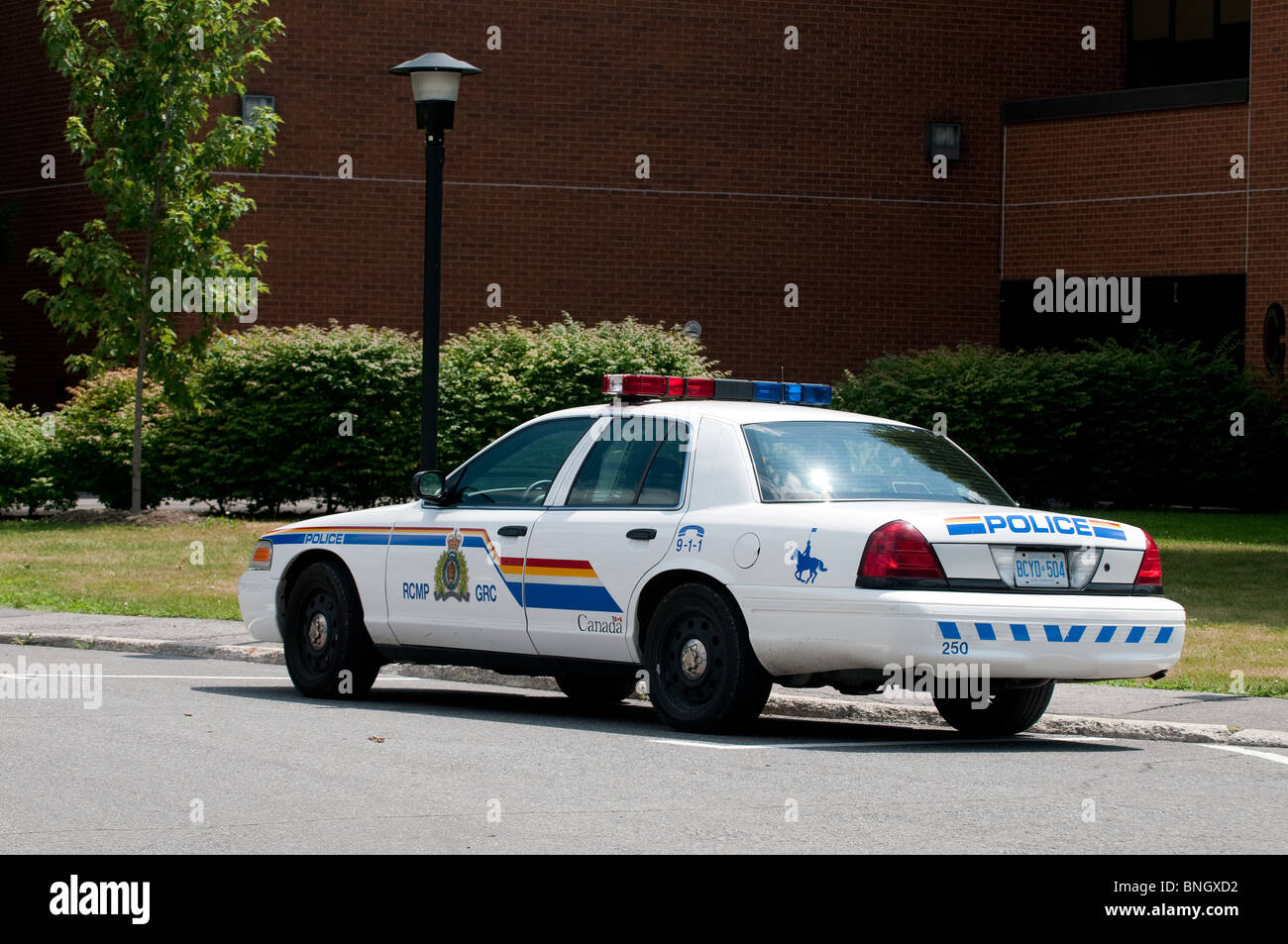 Rcmp royal canadian mounted police patrol car stock image