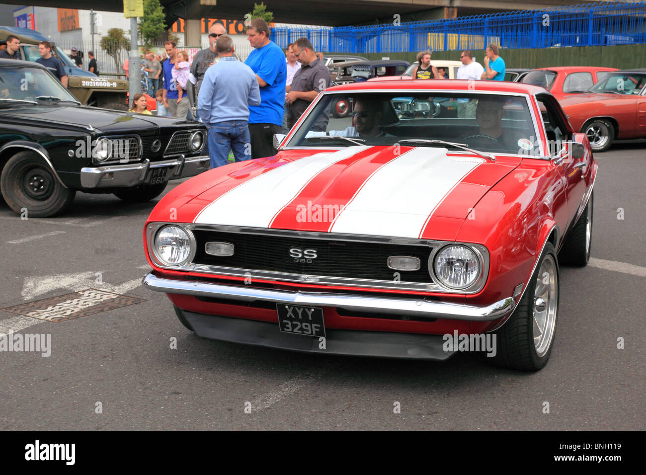 Chevrolet Chevelle American old car in New Malden, UK Stock Photo ...