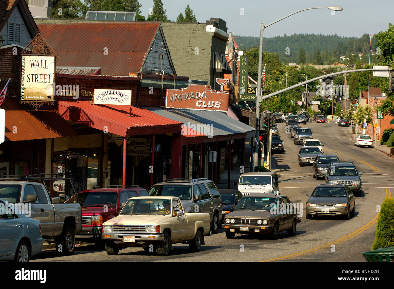 Usa grass valley california gold country small town street for The smallest town in the united states