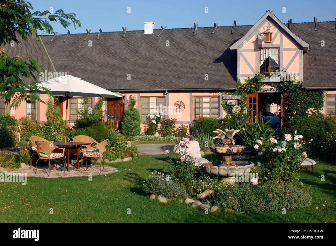 Usa Solvang California Solvang Gardens Lodge Hotel Garden Park