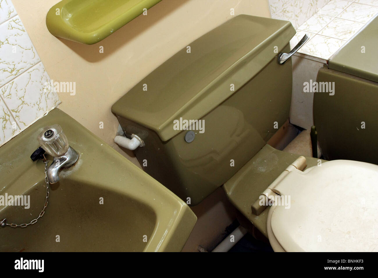 Avocado Bathroom Suite Avocado 1970 Bathroom Suite In A Typical British Home Built In The